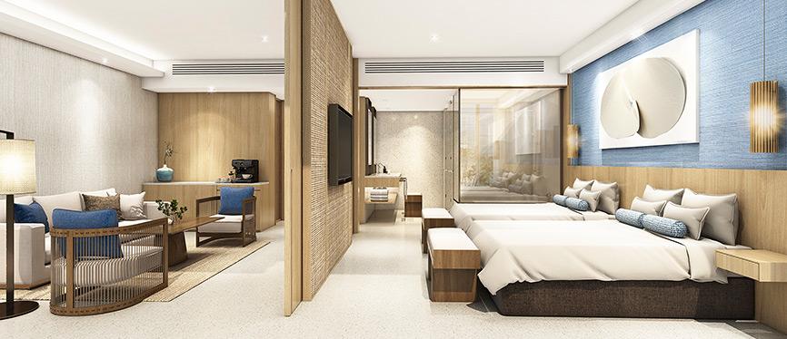 <p>Guestrooms with panoramic ocean views</p>