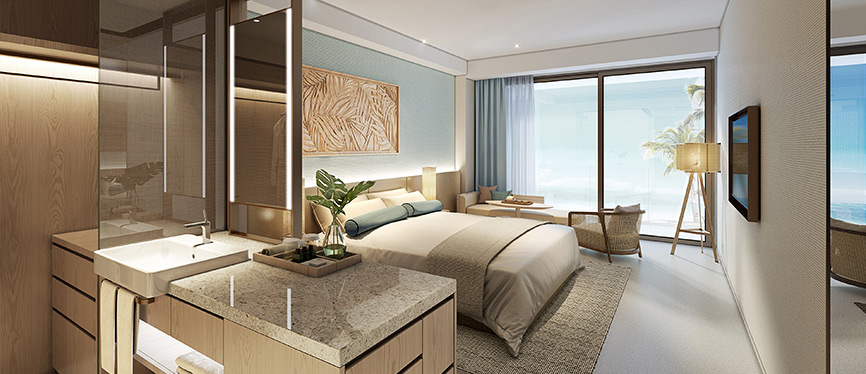 <p>Guestrooms with sea views</p>