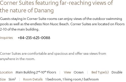 Corner Suite Description