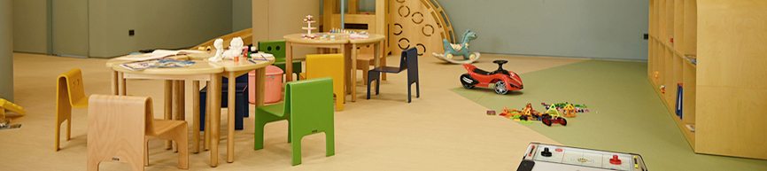 Little Monogram, Little Monogram image, A space where child guests can play freely