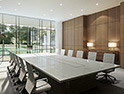 <p>A meeting room that can host various sizes and types of meetings</p>