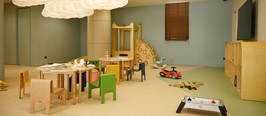 <p>A space where child guests can play freely</p>